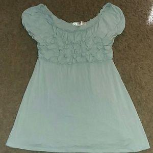 Light aqua blue tunic